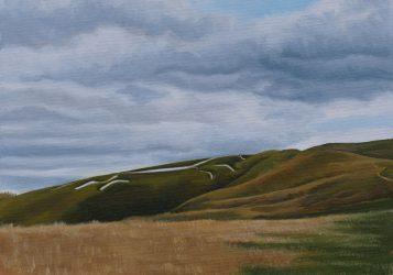 White Horse under a grey sky (2021)